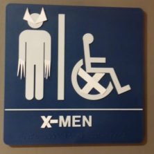 X-Men bathroom sign