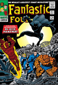 Black Panther's fist appearance