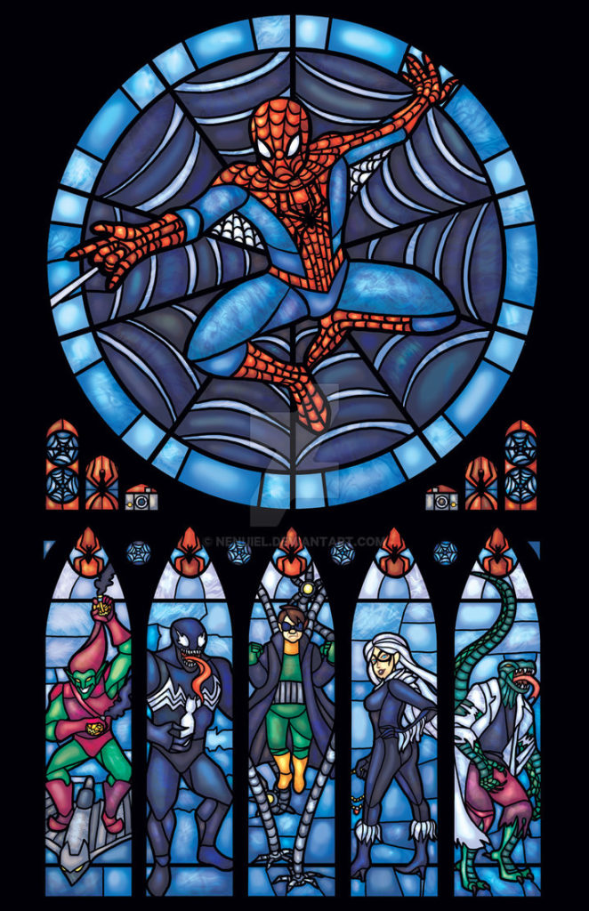 Spiderman Stained Glass Window by nenuiel on DeviantArt