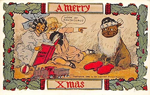 a merry xmas vintage postcard