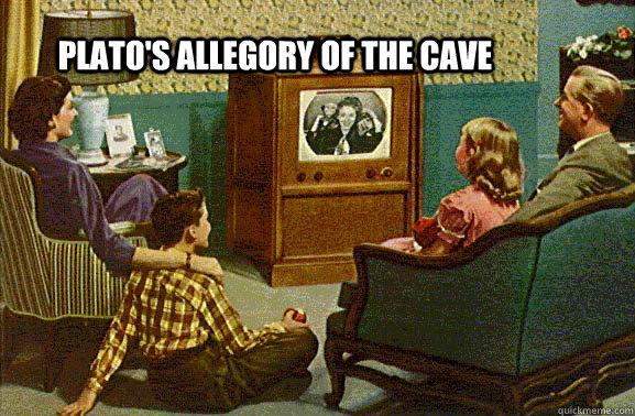 plato's allegory of the cave 50's family watching tv